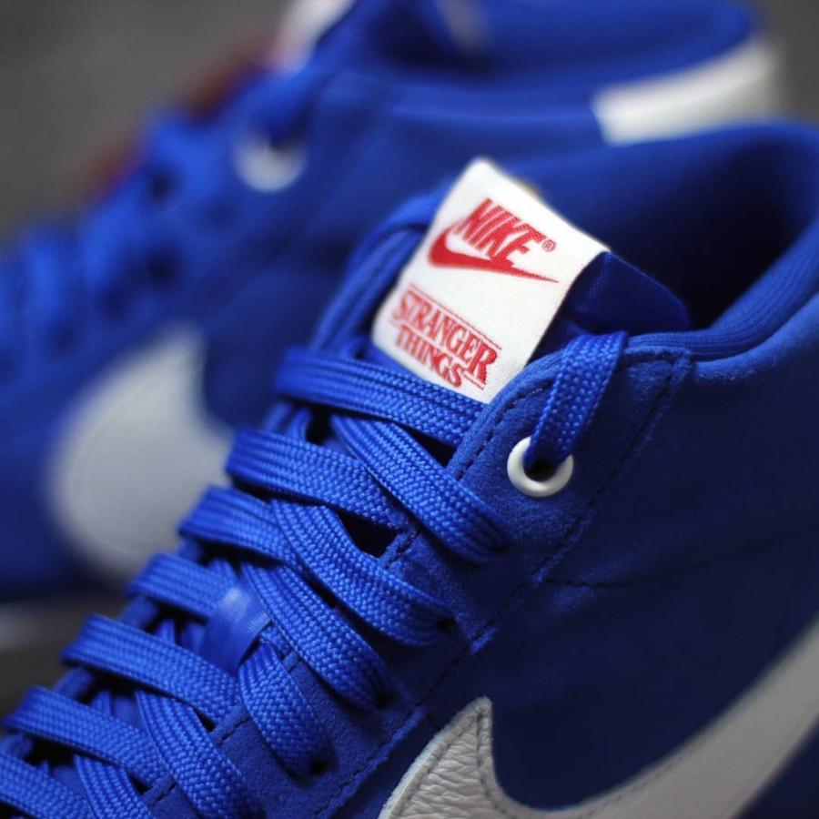 ST x Nike Blazer mi montante en suède bleu (5)