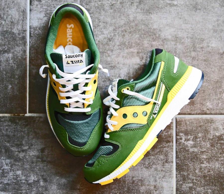 Saucony Originals Azura ST verte et jaune (1)