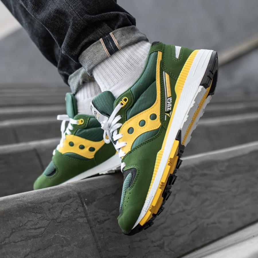 Saucony Originals Azura ST verte et jaune (2)