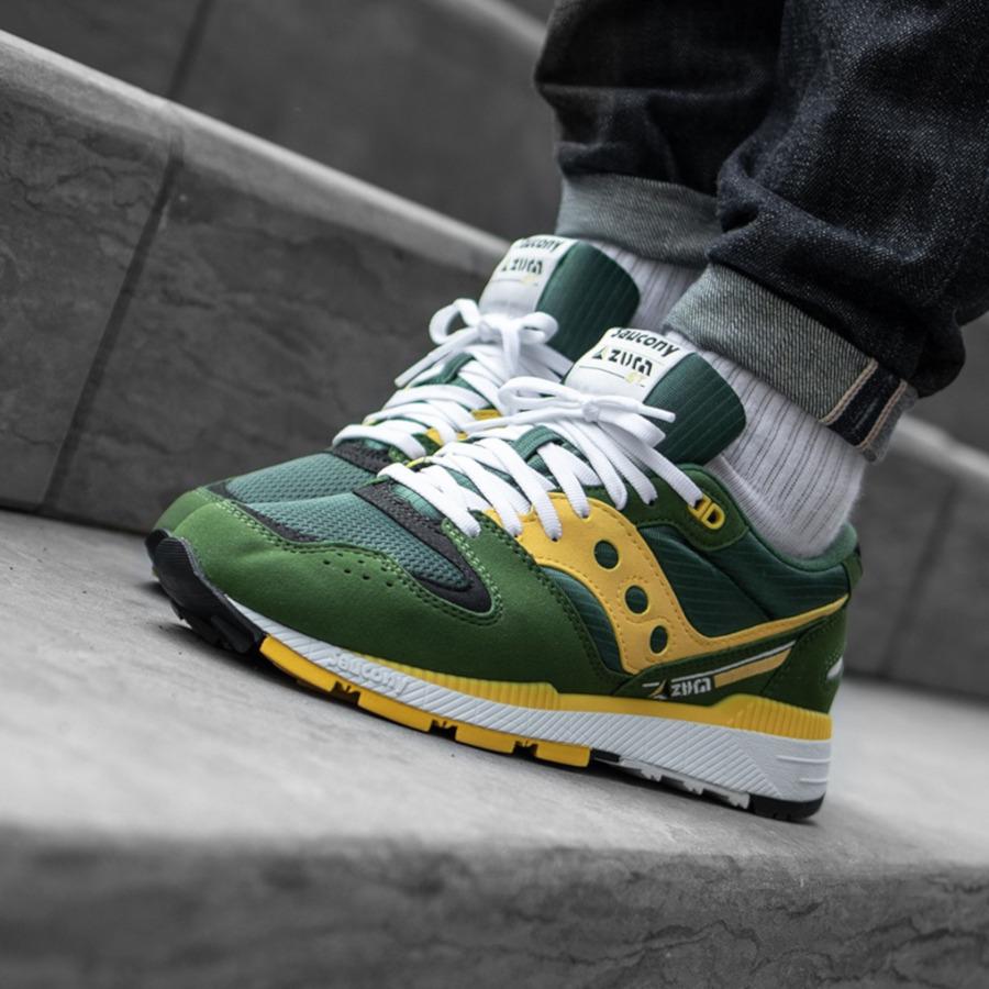Saucony Originals Azura ST verte et jaune (3)