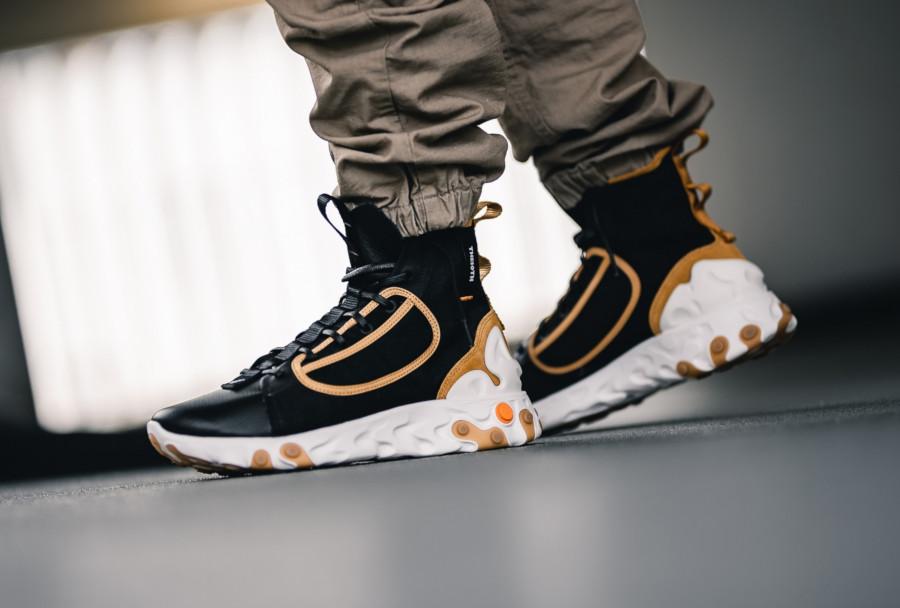 botte Nike React Ianga noire beige et blanche (4)