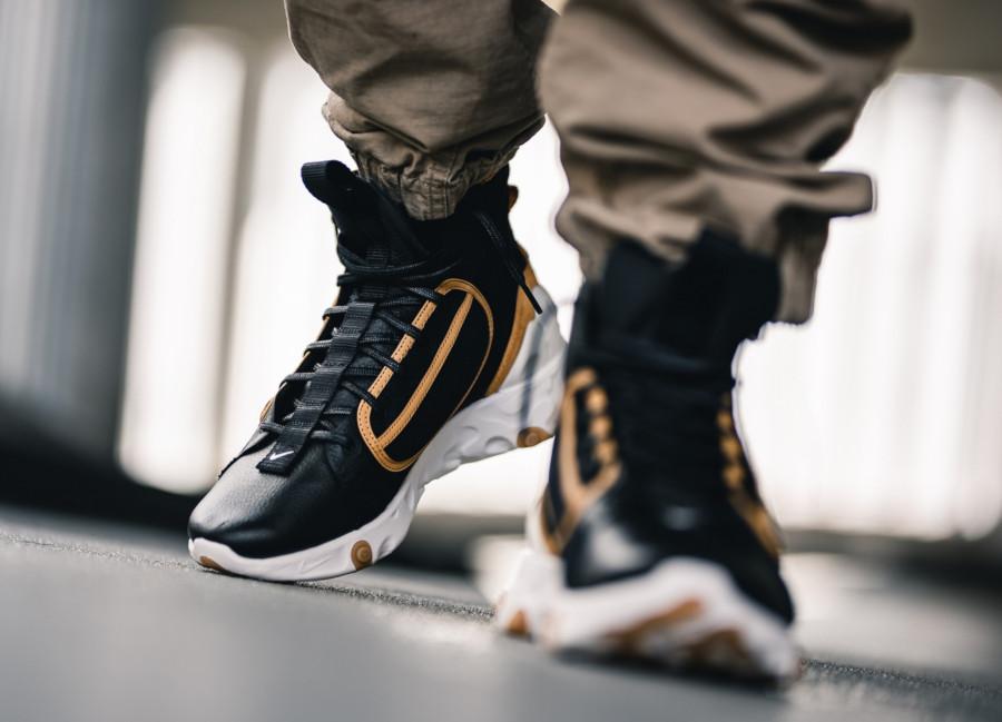 botte Nike React Ianga noire beige et blanche (5)