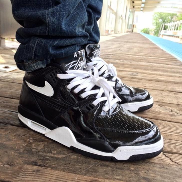 (1999) Nike Air Flight 89 Black Patent Leather - @regularolty