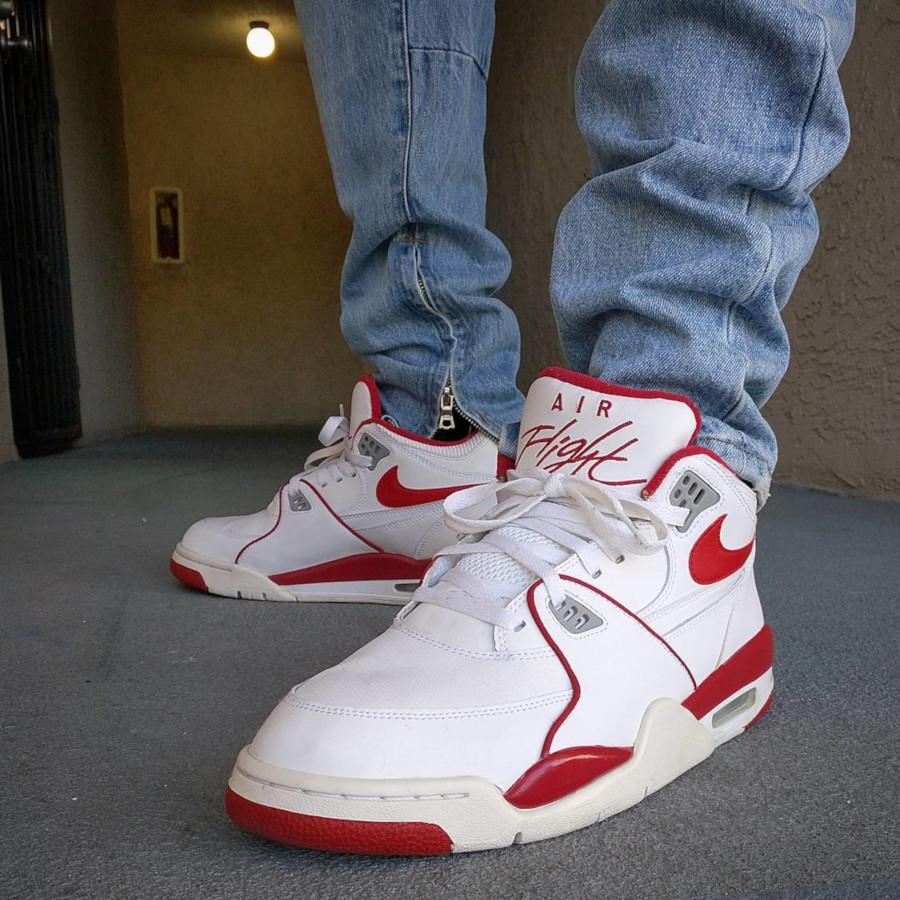 (2005) Nike Air Flight 89 White Red- @thefreshkicksofobc