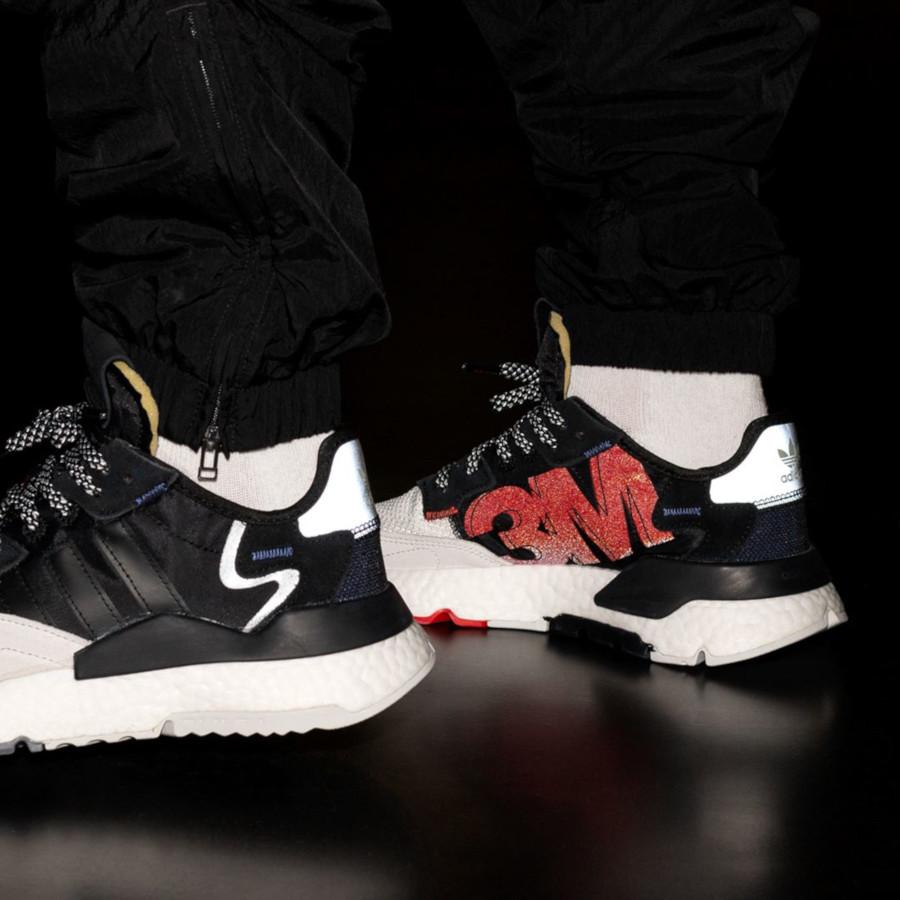 Adidas Nite Jogger Boost Reflective noire blanche et grise (1)