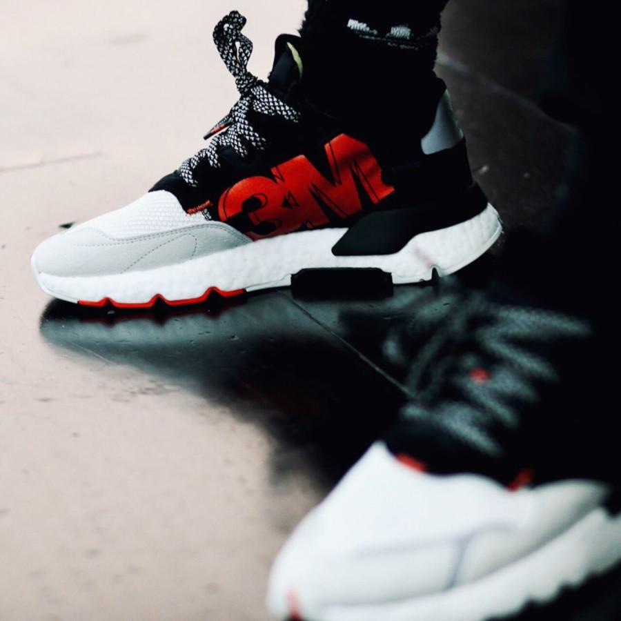 Adidas Nite Jogger Boost Reflective noire blanche et grise (2)
