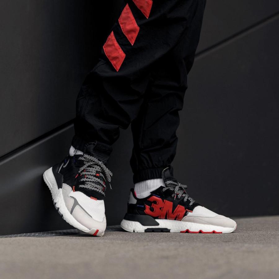 Adidas Nite Jogger Boost Reflective noire blanche et grise (3)