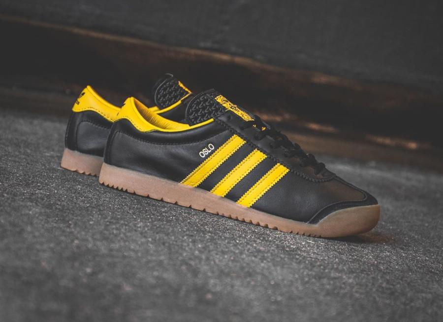 Adidas Originals Oslo noire jaune et gomme (5-1)