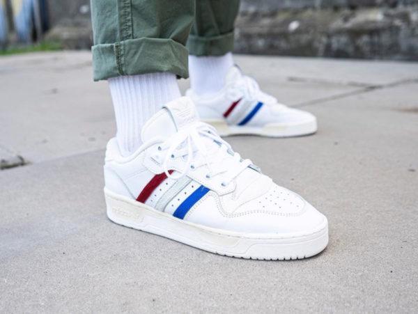 Adidas Rivalry Low Cream White Pony Hair Stripes