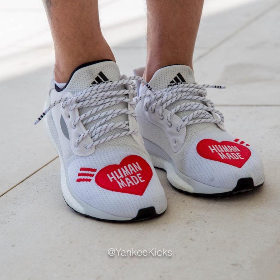 Adidas Solar Hu Glide blanche et rouge EG1837 (3)