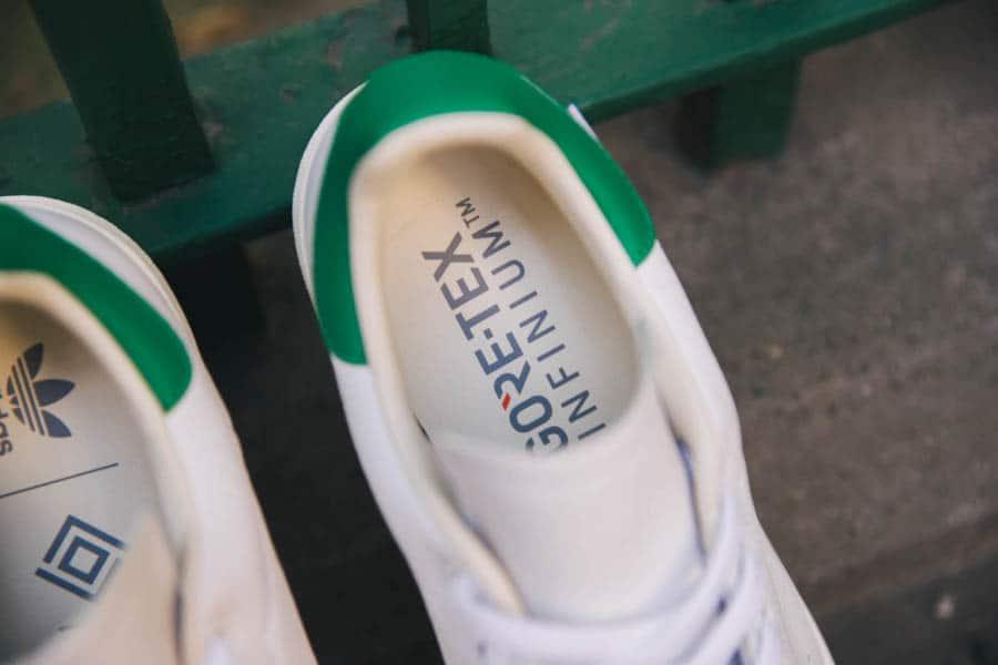 Adidas Stan Smith blanche vintage et verte FU8926 (1)