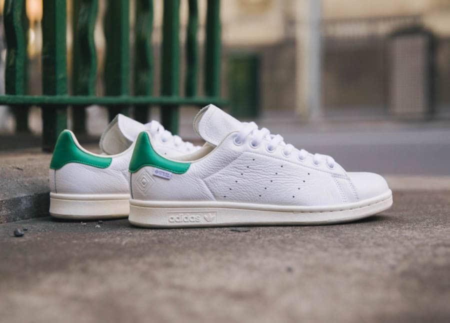 Adidas Stan Smith blanche vintage et verte FU8926 (2)
