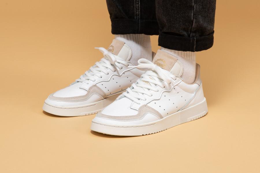 adidas super court femme blanche