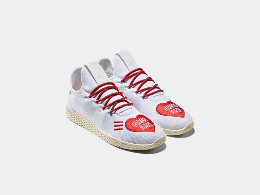 Adidas Tennis Hu blanche et rouge EF2392 (1)