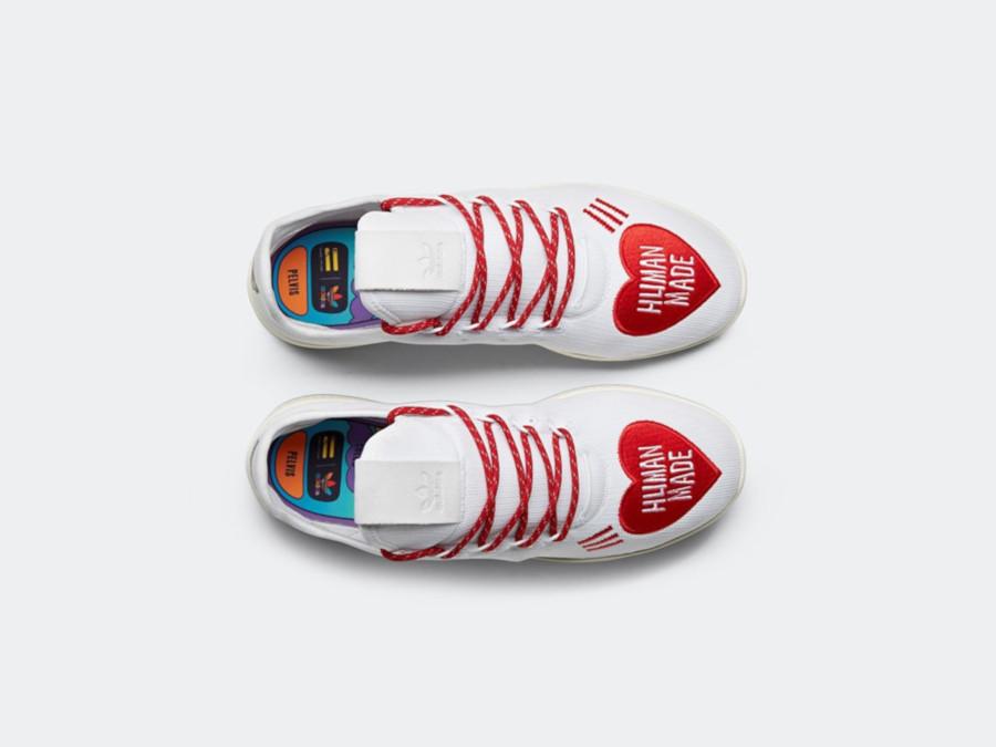 Adidas Tennis Hu blanche et rouge EF2392 (2)