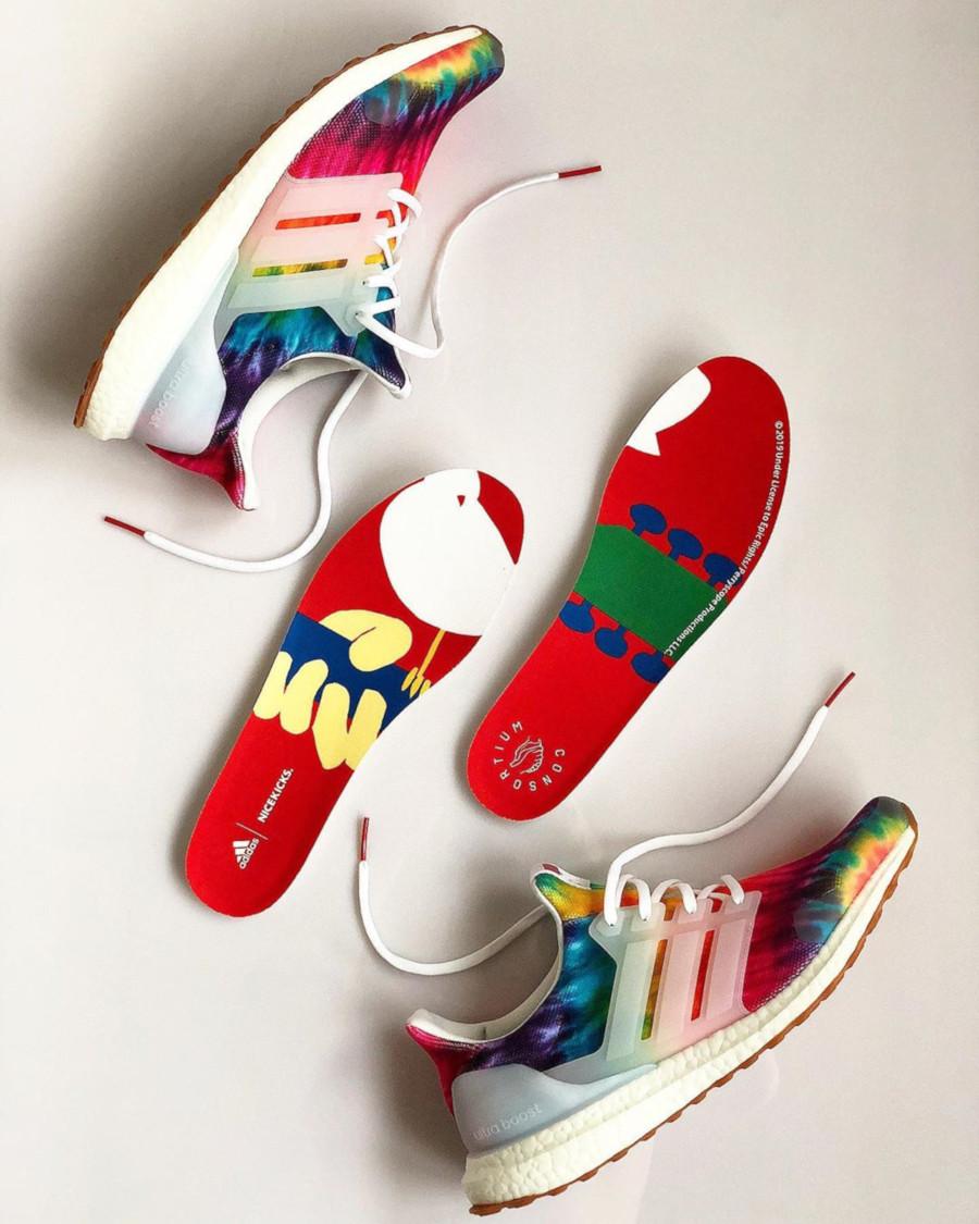 Adidas Ultra Boost avec imprimé psychédélique (1)