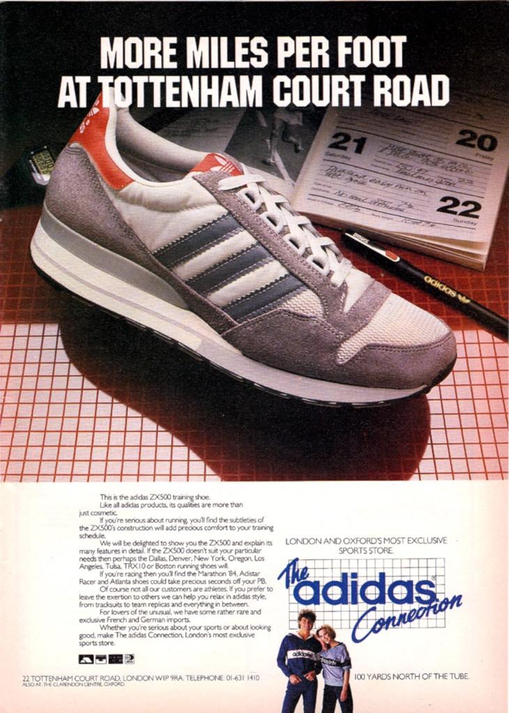 Adidas ZX 500 publicité vintage de 1984