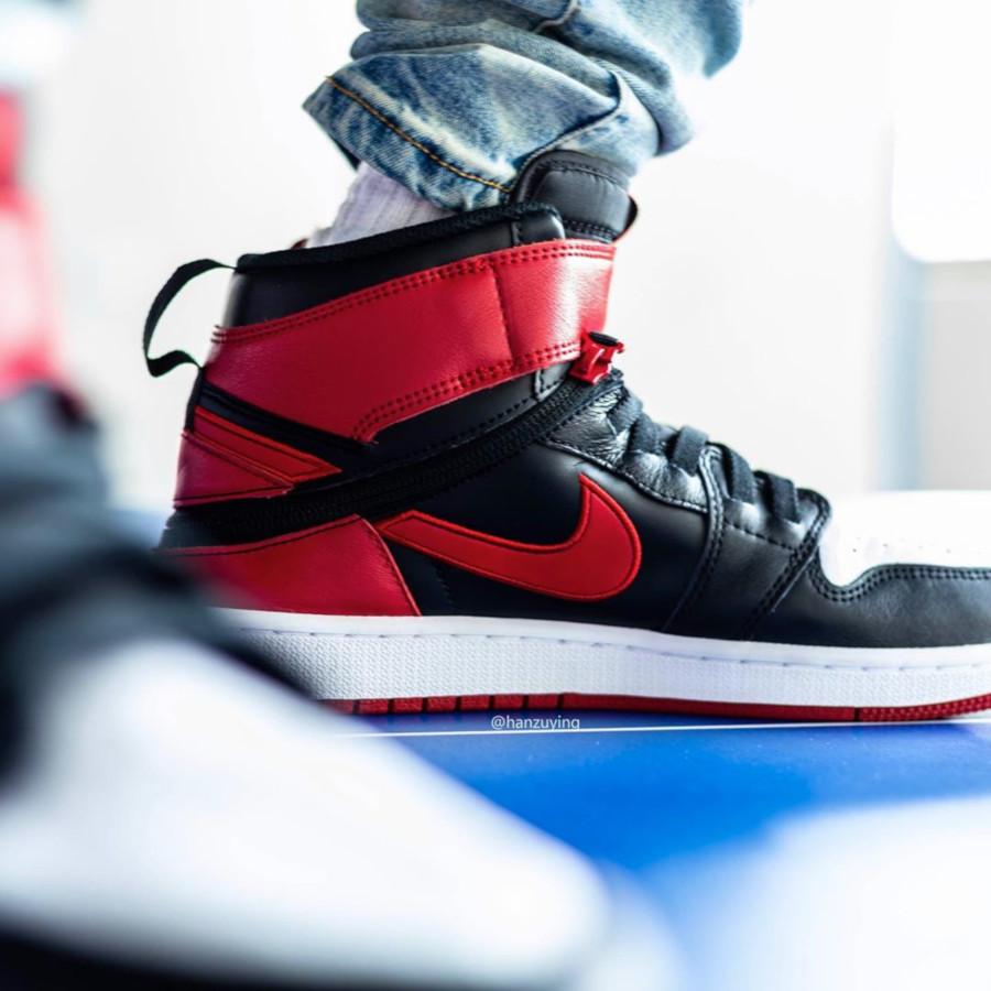 Air Jordan 1 High FlyEase rouge noire et blanche (4)