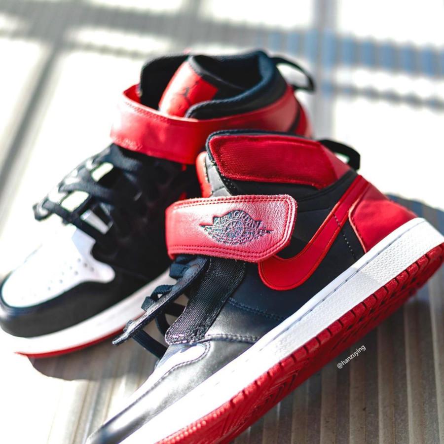 Air Jordan 1 High FlyEase rouge noire et blanche (6)