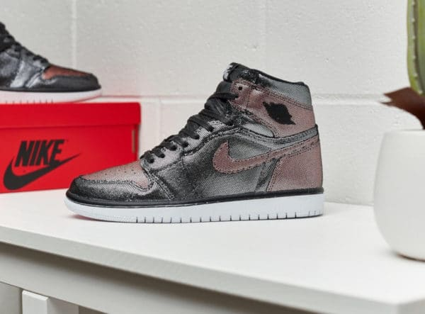 Air Jordan 1 W Fearless Ones Black Metallic Rose Gold