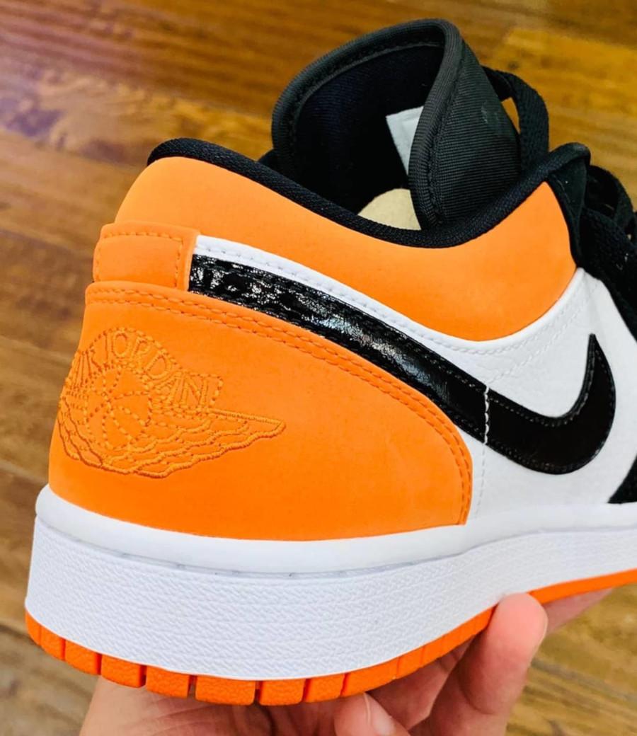 Air Jordan 1 basse blanche noire et orange 553558-128 (2)