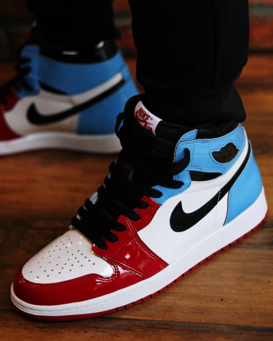 air jordan 1 mid rouge vernis