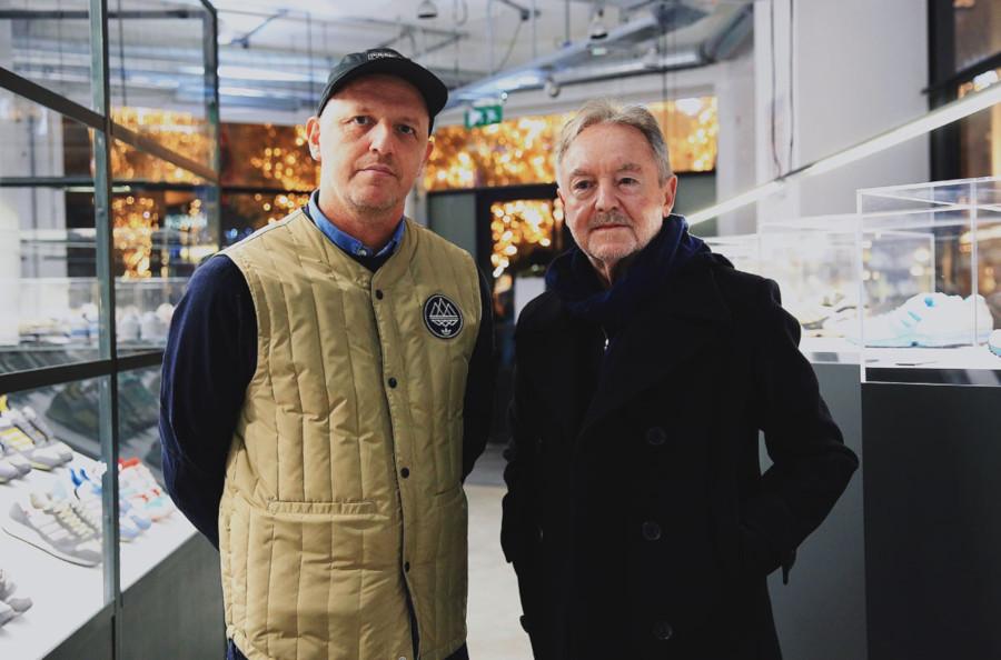 Gary Aspden et Jacques Chassaing (inventeur adidas zx)