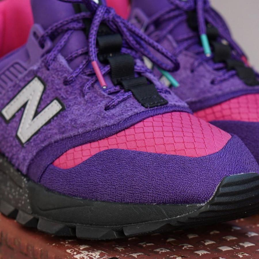 New Balance 997 Sport violet rose grise et turquoise (2)