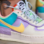 Nike Wmns AF1 Shadow 'Pale Ivory Celestial Gold Tropical Twist'