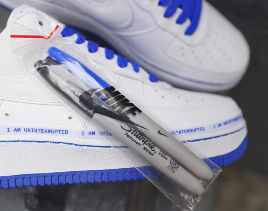 Nike Air Force 1 White Racer Blue CQ0494-100 (2)