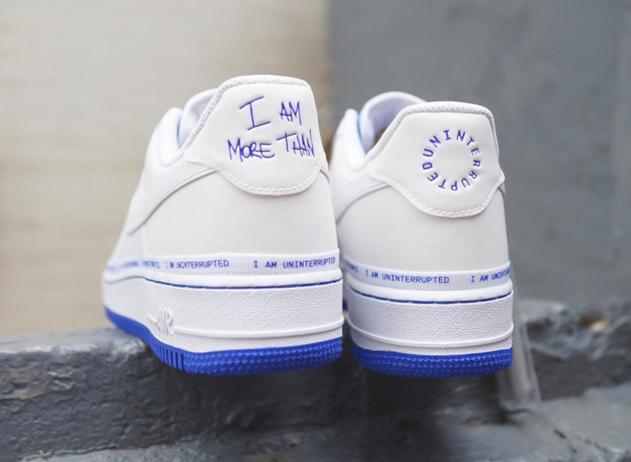 Nike Air Force 1 White Racer Blue CQ0494-100 (3)