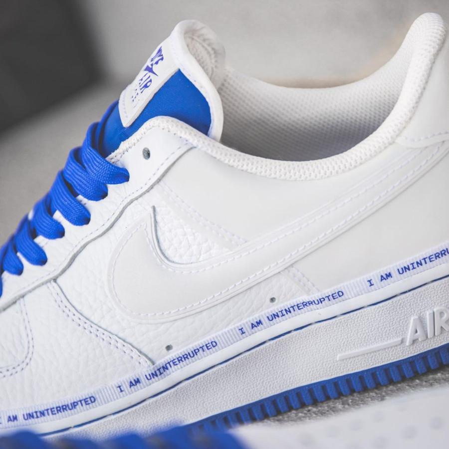 Nike Air Force 1 White Racer Blue CQ0494-100 (4-1)