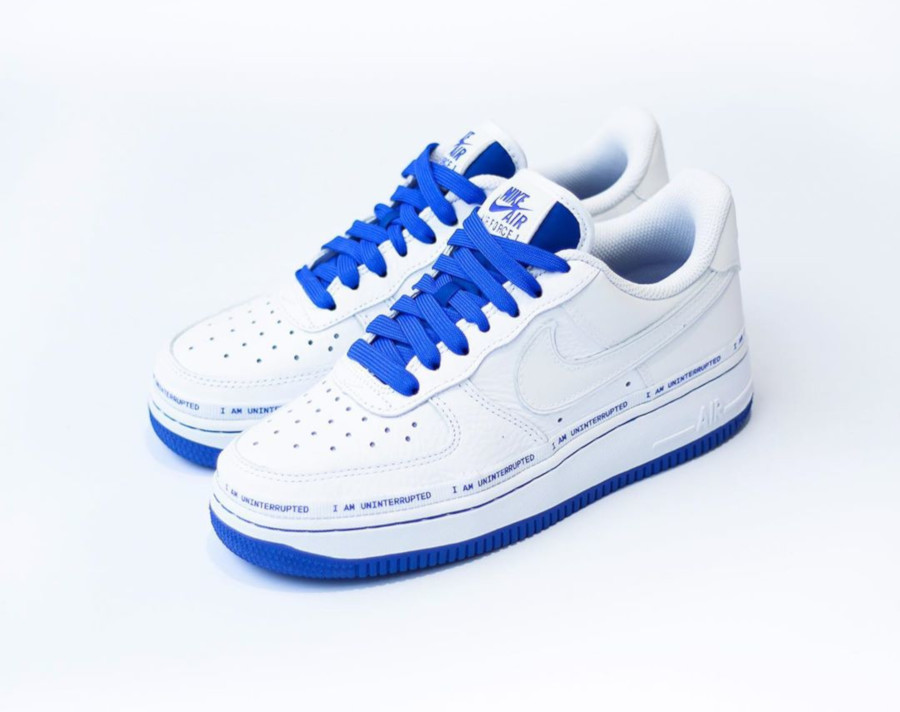 Nike Air Force 1 White Racer Blue CQ0494-100 (4)