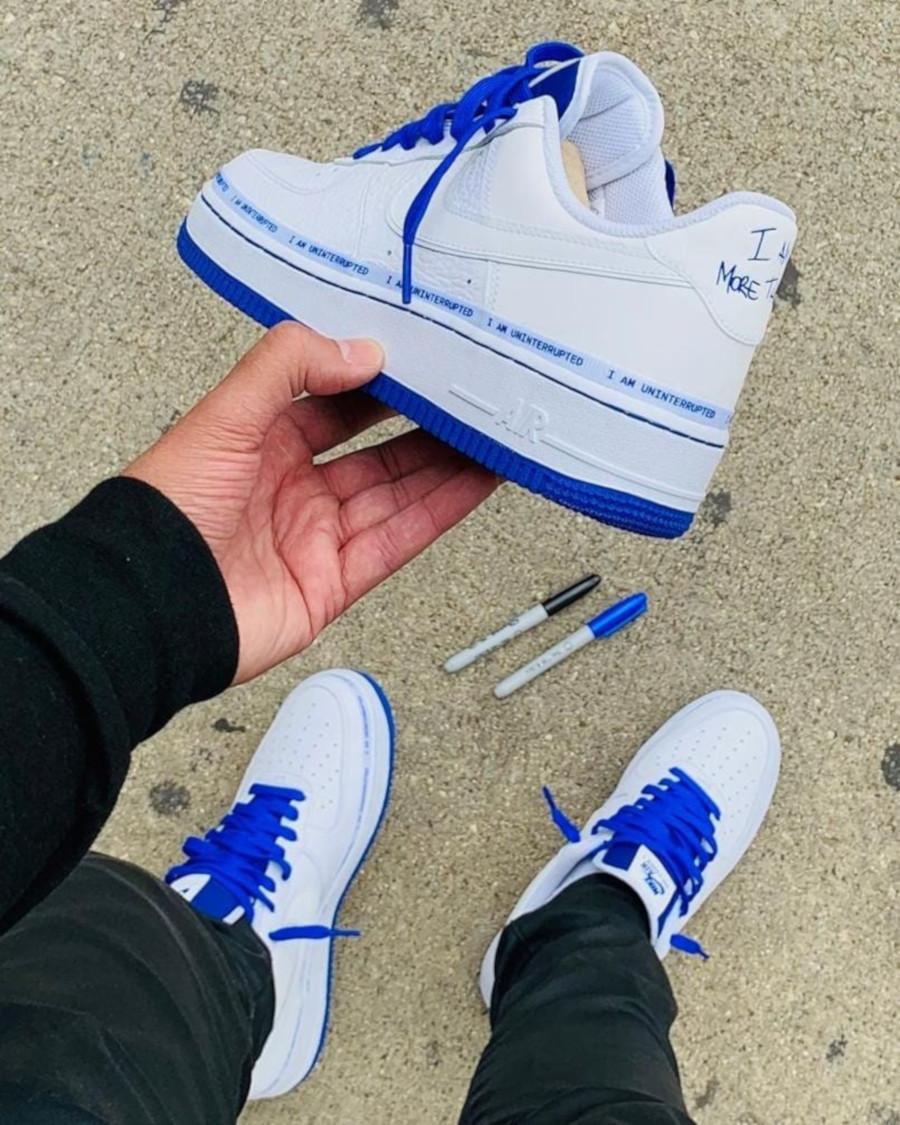 Nike Air Force 1 White Racer Blue CQ0494-100 (7)