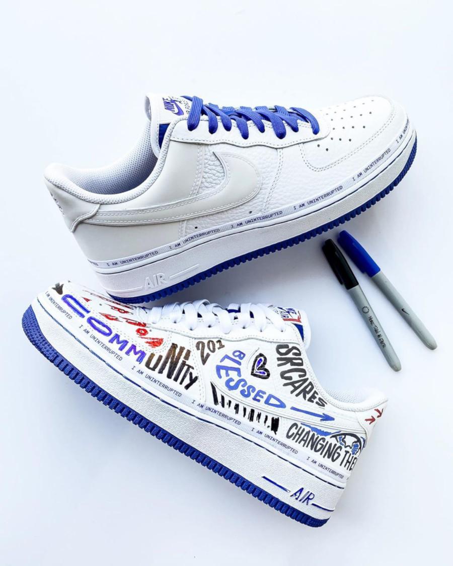 Nike Air Force 1 White Racer Blue CQ0494-100 (9)