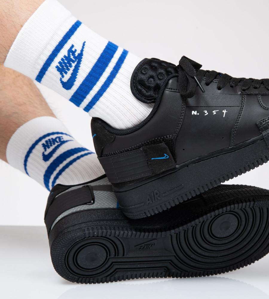 Nike Air Force 1 noire et bleue AT7859 001 (2)