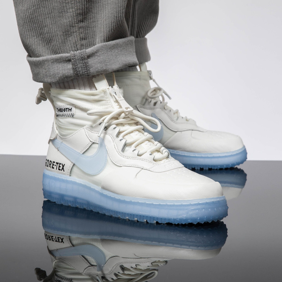 Nike Air Force One WTR GTX blanche avec semelle icy (4)