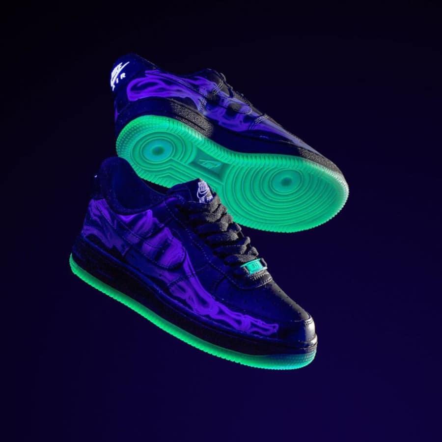 Nike Air Force One qui brille dans le noir (3)