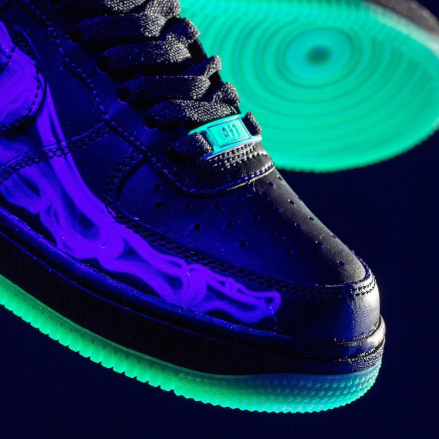 Nike Air Force One qui brille dans le noir (6)