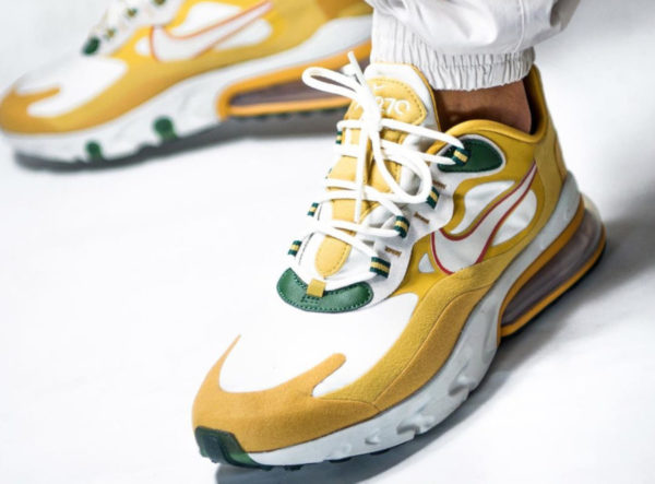 Nike Air Max 270 React Gold 'Reggae' (Music Pack) couv