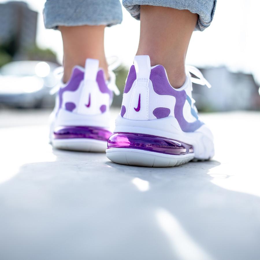 Nike Air Max 270 React blanche dégradé violet et turquoise (1)