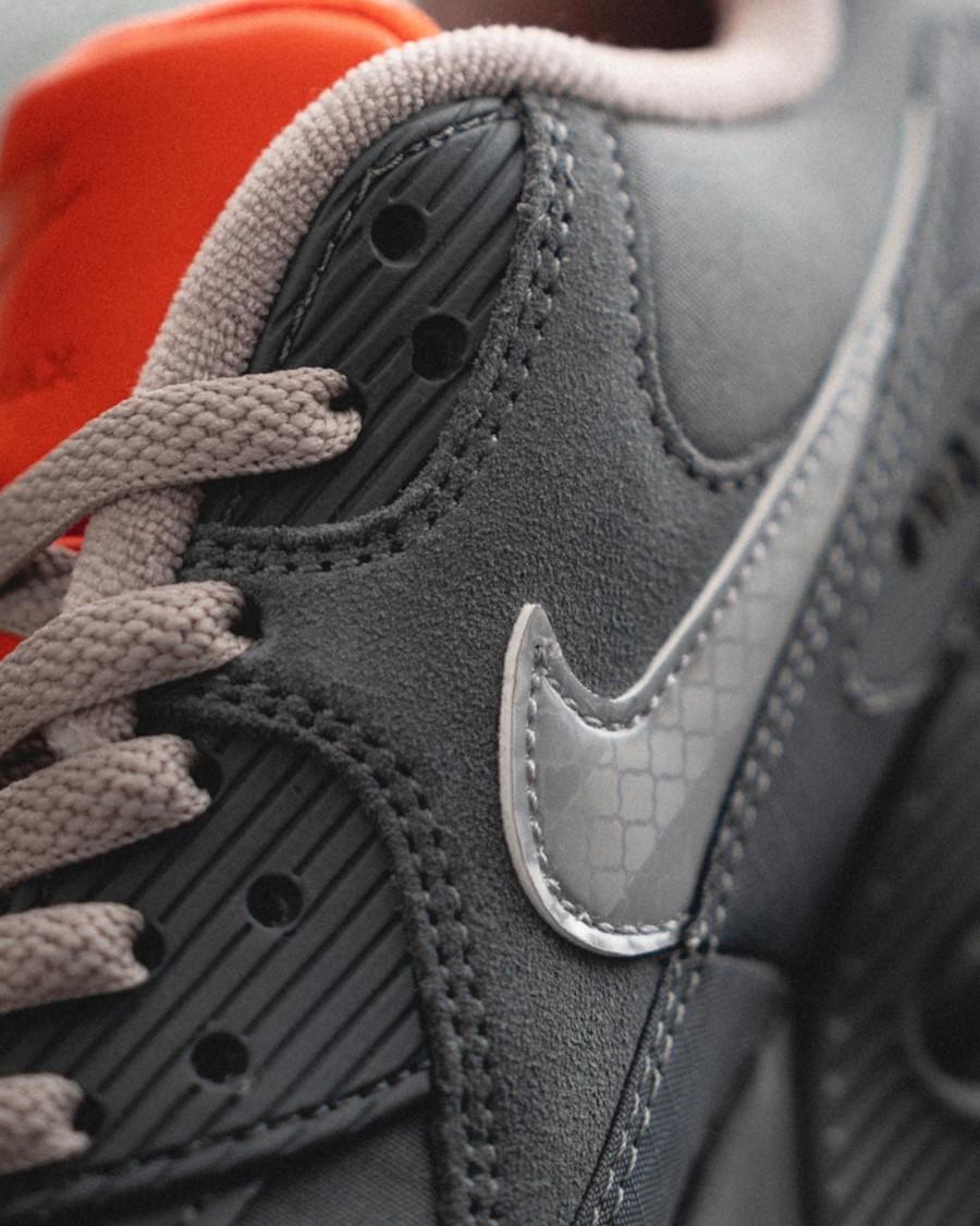 Nike Air Max 90 Premium 3M Grise et orange (2)