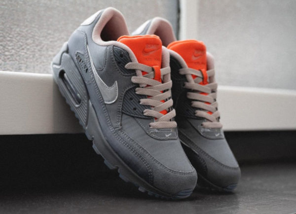 Nike Air Max 90 Premium 3M Grise et orange (3)