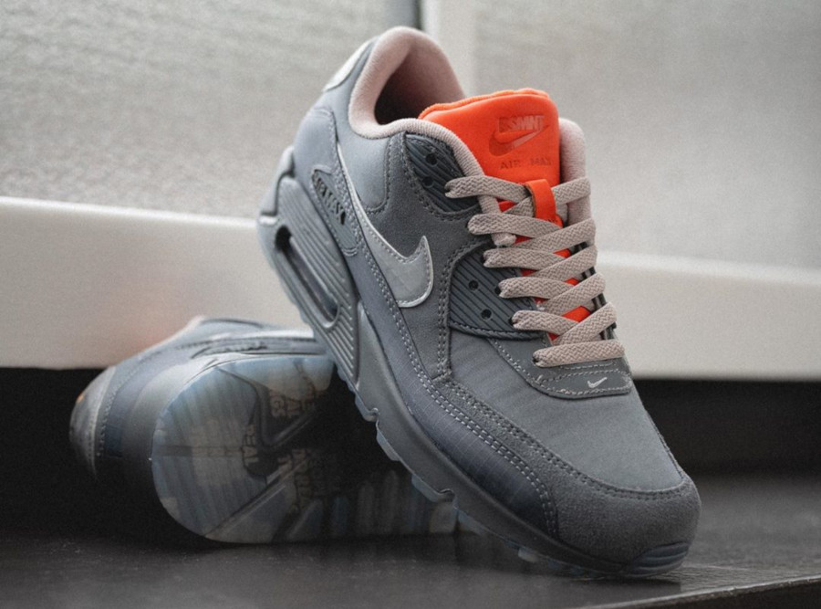 Nike Air Max 90 Premium 3M Grise et orange (4)