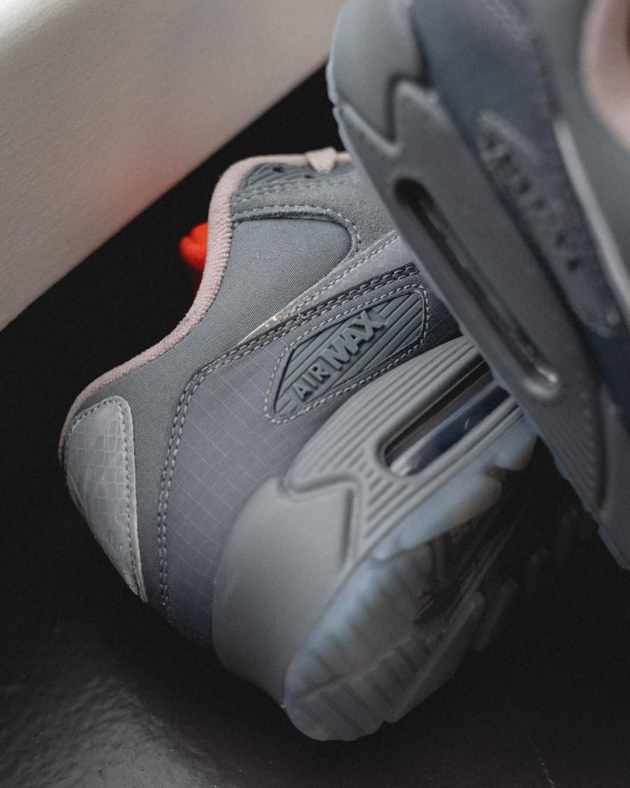 Nike Air Max 90 Premium 3M Grise et orange (5)