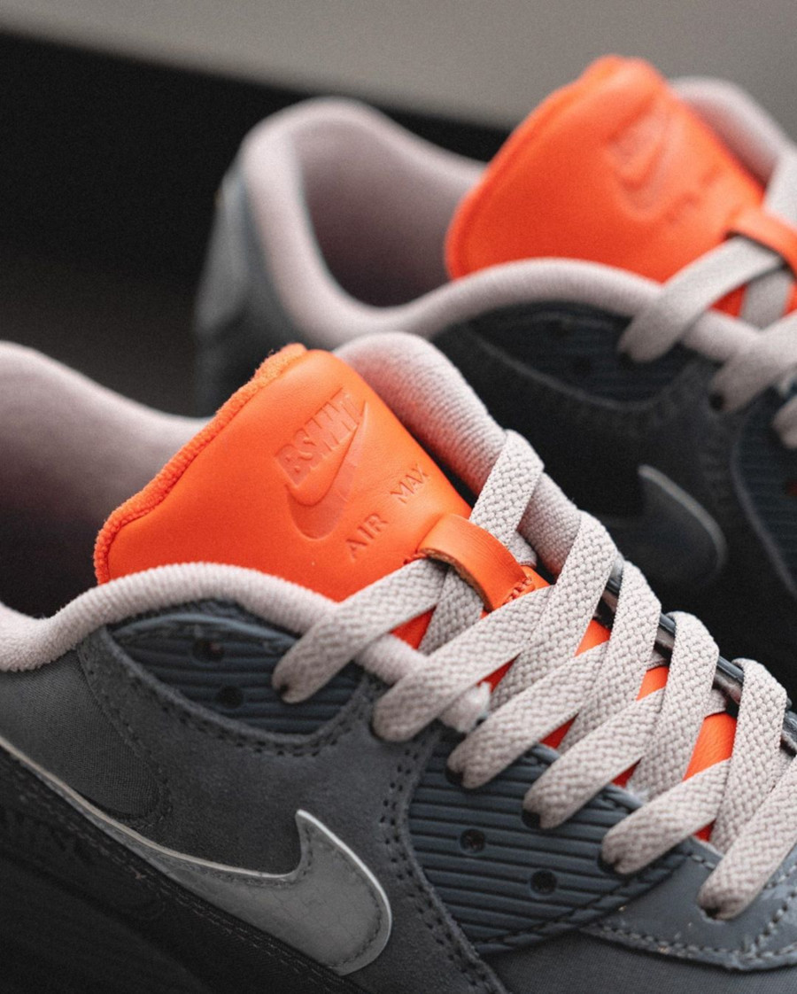 Nike Air Max 90 Premium 3M Grise et orange (6)