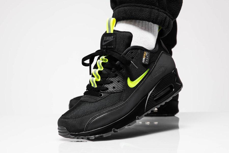 Nike Air Max 90 noire jaune fluo CU5967 001 (2)