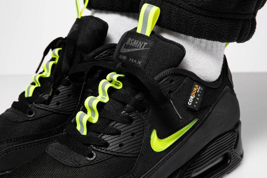 Nike Air Max 90 noire jaune fluo CU5967 001 (3)