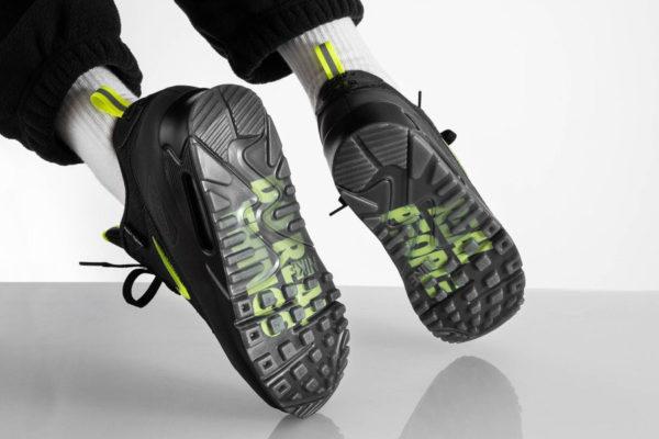 Nike Air Max 90 noire jaune fluo CU5967 001 (4)