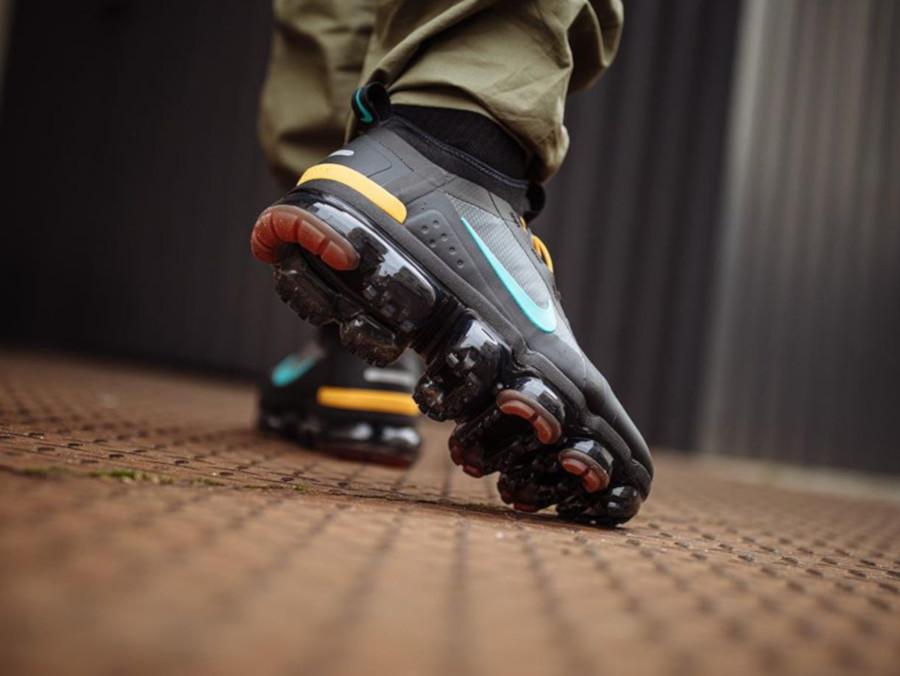 Nike Air VaporMax 2019 Utility noire jaune et turquoise (1)
